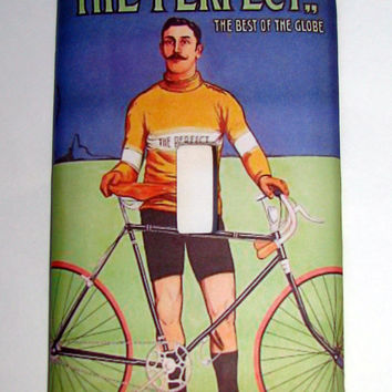 Light Switch Cover - Light Switch Plate Bicycle Vintage French Bicycle Ad
