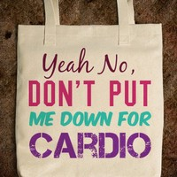 "PITCH PERFECT ""YEAH NO, DON'T PUT ME DOWN FOR CARDIO"""