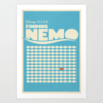 Finding Nemo Movie Poster Art Print by RoarsAdams