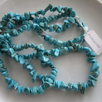 34 inch strand chip turquoise gemstone beads, turquoise chip bead - 0.25 inches - jewelry bead supplies - chip bead supplies - gemstone bead
