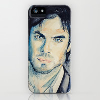 Ian (Damon-The Vampire Diaries) iPhone & iPod Case by Slaveika Aladjova