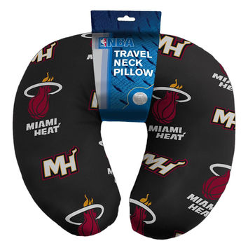 Miami Heat NBA Beadded Spandex Neck Pillow (12in x 13in x 5in)