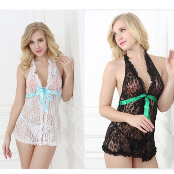 Hot Deal Cute On Sale Sexy Backless Lace Transparent Exotic Lingerie [6595685827]