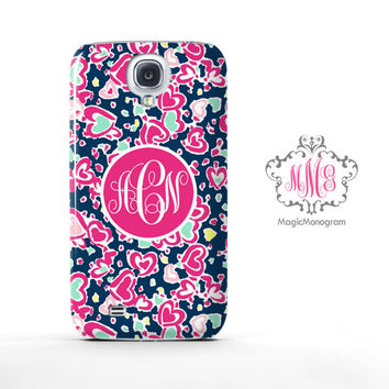 Hearts Love Pattern Lilly Pulitzer Monogram Samsung Galaxy S6 Case, Galaxy Note 4 Case