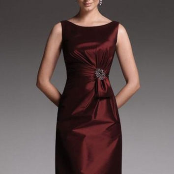 Elegant Cheap Satin Sheath Plus Size Mother of the Groom Bride Dresses Knee Length Formal Pant Suits for Weddings