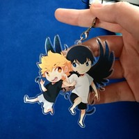 Haikyuu winged AU charm: Kagehina by craziiwolf