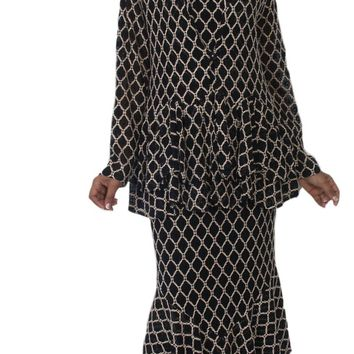 97dde75161a Hosanna 5148 Plus Size 3 Piece Set Black Tea Length Dress