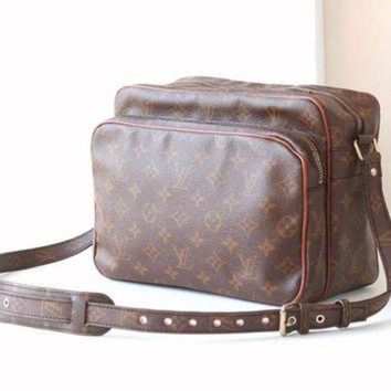 PEAPYD9 Vintage Louis Vuitton Monogram Nil Maroon Shoulder Cross body bag authentic purse
