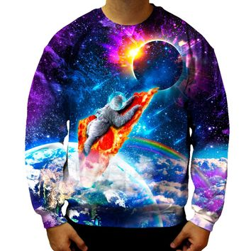 Pizza Spaceship Sweatshirt