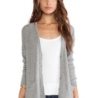 Joie Eltina Cardigan in Heather Grey & Midnight Blue