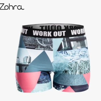 Zohra Retro Elegant Women Fitness Shorts Scenery Printing Fashion Shorts Movement Leggins Capri Short