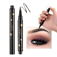2017 New Brand Black Brown Eye Brow Tattoo Maleup Kit Long Lasting Waterproof Liquid Henna Eyebrow Pencil Make Up