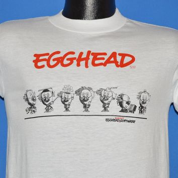 80s Egghead Discount Software Wrap Around t-shirt Small