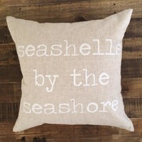 Maka Sea - Seashells Pillow / White