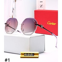 Cartier 2019 new style brand big box female retro polarized sunglasses #1