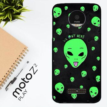 Alien We Out Here X4148 Motorola Moto Z2 Play Case