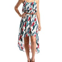 Belted Challis Hi-Low Dress: Charlotte Russe