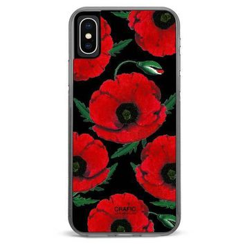 Red Poppy iPhone XR case