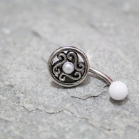 flower belly button jewelry ring,flower belly ring,flower belly ring,belly button jewelry,summer jewelry
