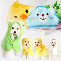 Soft Pet Dog Cute Cartoon Pajamas Dog Bathrobe Multifunction Absorbent Cat Bath Towel Animal Puppy Cat Warm Blanket Pet Supplies
