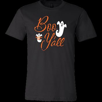 Boo Y'all Ghost Monogrammed Halloween T-shirt