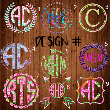 Lilly Pulitzer Monogram Decal ,Lilly Pulitzer Monogram decal Lilly Pulitzer Car Decal, Lilly Pulitzer, Monogram decal, Monogram Car decal