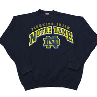 Vintage 90s Notre Dame Crewneck Sweatshirt Made in USA Mens Size Medium