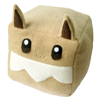 Pokemon Eevee Cubee Cube Plushie Stuffed Animal kawaii cute square