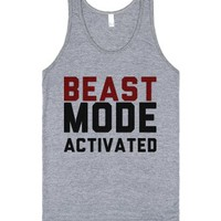 Beast Mode-Unisex Athletic Grey Tank