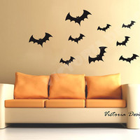 Large Halloween Bat Wall Decals