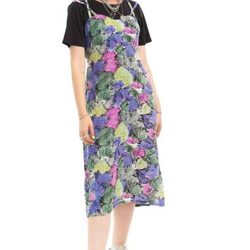 Vintage 90's Is It Art? Layer-Look Maxi Dress - One Size Fits Many