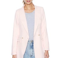 Nasty Gal Believe Me Blazer - Blush