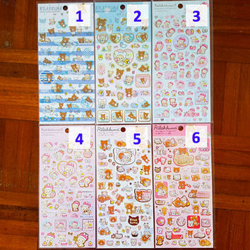 Rilakkuma sticker, Bear sticker, San-X Japan stickers, Rilakkuma stickers, Sanrio Japan, Bear stickers, Sanrio sticker 1 2 3 5 10 so