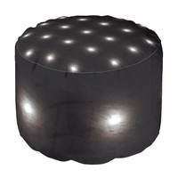 Full Moon with Mist Design on Pouf