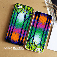 Art Tree Coloured Beautyful  iPhone Case Cover for iPhone 6 6 Plus 5s 5 5c 4s 4 Case