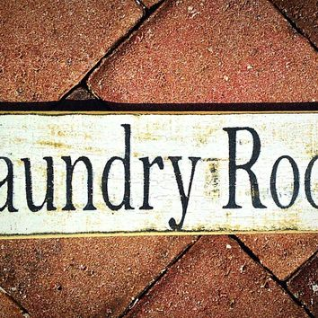 14x4 Laundry Room Wood Sign