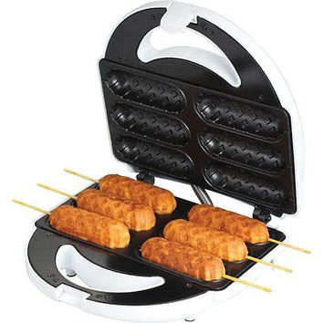 Retro Hot dog Sandwich Waffle Maker on Stick Snack Iron Baker Kitchen Chef