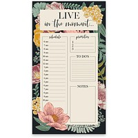 Live In The Moment Floral Notepad