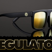 Regulator Sunglasses: Blackout W/ Gold Emblem