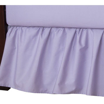 American Baby Company 100% Cotton Percale Ruffle Crib Skirt Lavender