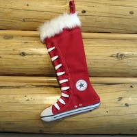 Converse Stocking Red by creationzbycatherine on Etsy