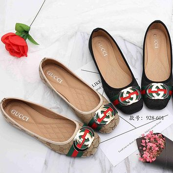 GUCCI Slip-On Women Fashion Flats Shoes