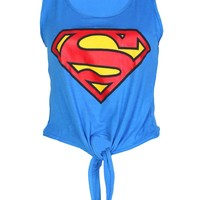 Superman Tie Front Top - Womens Clothing Sale, Womens Fashion, Cheap Clothes Online | Miss Rebel