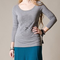 Hamsa Tri-blend Long Sleeve Top