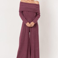 Rolled Down Sweater Jumpsuit