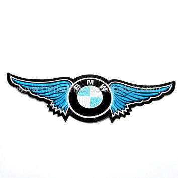 Retail 1 piece Eagle wing patches , High quality motorcycles badge for BMW ,  3.5inch*11.5inch