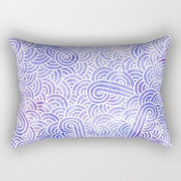 Lavender and white zentangles Rectangular Pillow by Savousepate
