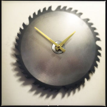 Saw Blade Wall Clock Shop Clock Circular Saw Blade Wall Clock Workshop Clock Gift For Him Woodworkers Clock