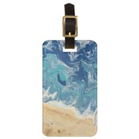 Beach Abstract Art Luggage Tag personalized