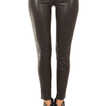 Rag & Bone Washed Black Leather Skinny Pant